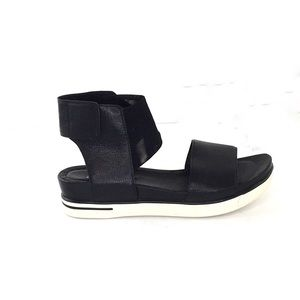 Eileen Fisher Black Sports Leather/Mesh Sandals